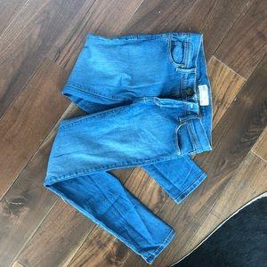 Free people blue ankle skinny jeans